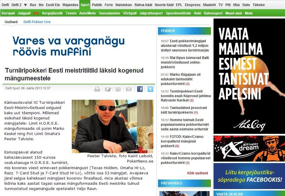 Eesti meistrivõistlused Delfis