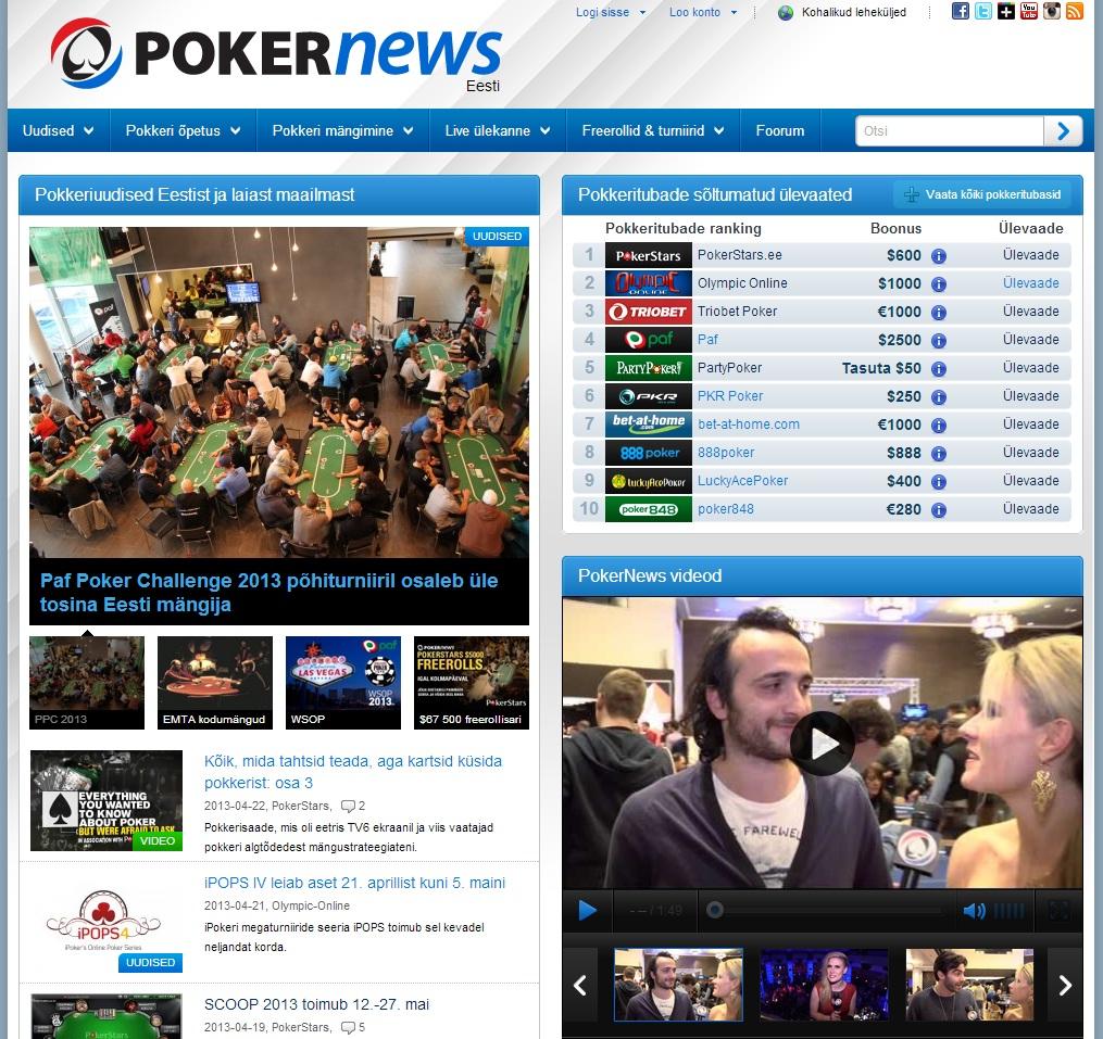 PokerNewsi pilt